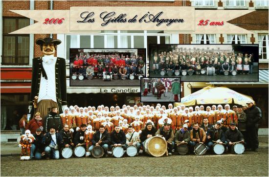 Photo Officielle 2006 : Les Gilles de l'Argayon fêtent leur 25 ans